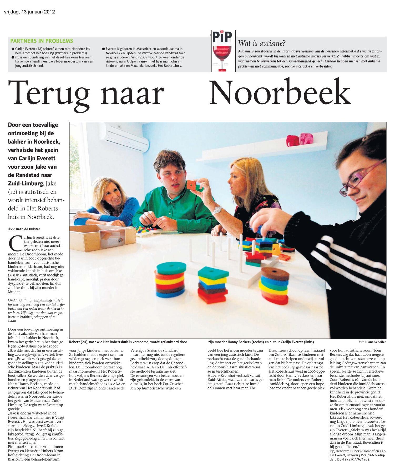 Artikel Terug naar Noorbeek